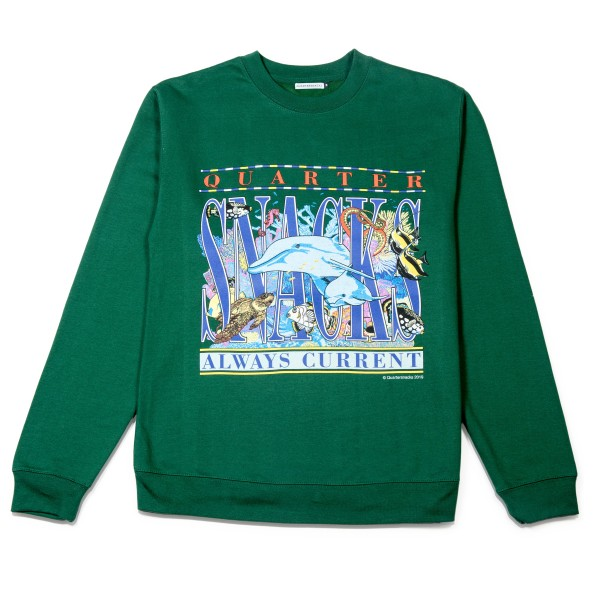 Quartersnacks Always Current Crew Neck Sweatshirt (Green)