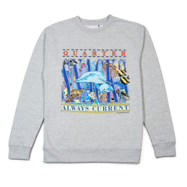 Quartersnacks Always Current Crew Neck Sweatshirt (Grey)