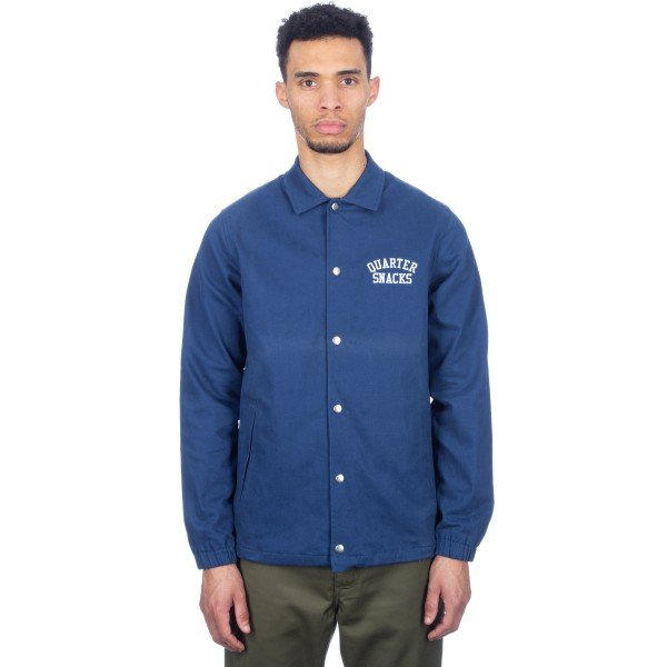 Quartersnacks Cotton Canvas Coach Jacket (Navy)