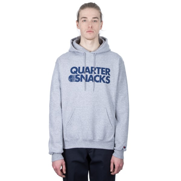 Quartersnacks Journalist Champion Pullover Hooded Sweatshirts (Heather Grey)