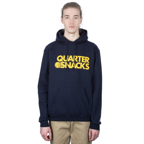 Quartersnacks Journalist Champion Pullover Hooded Sweatshirts (Navy)