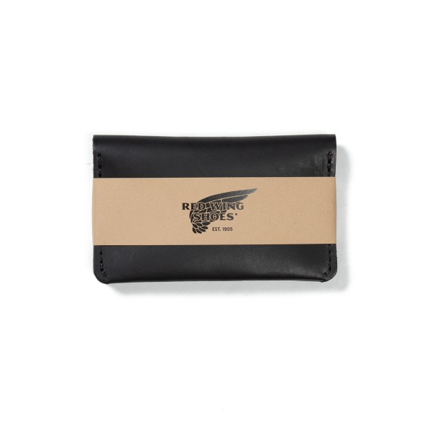 Red Wing Card Holder Wallet (Black Frontier Leather)