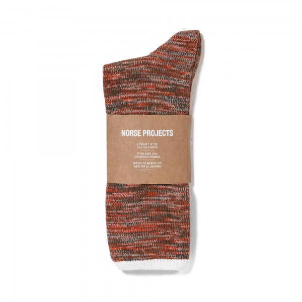 Norse Projects Bjarki Blend Socks (Orange)