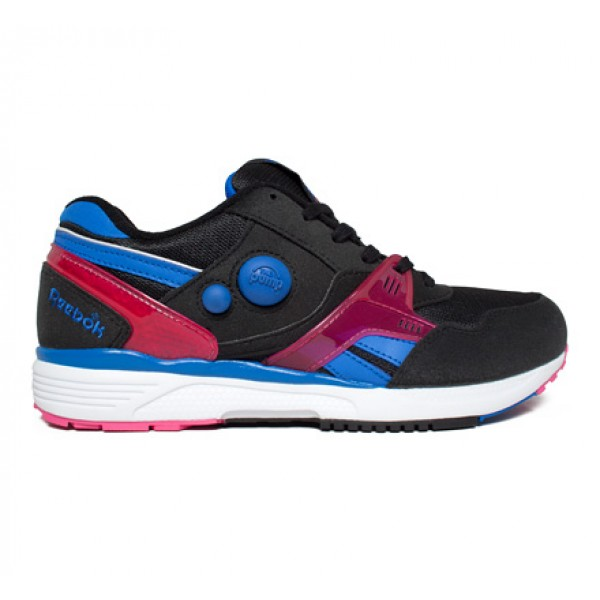Reebok Pump Running Dual (Black/Vital Blue/Pink/White)