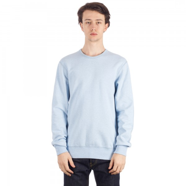 Reigning Champ Crew Neck Sweatshirt (Heather Light Saxe)
