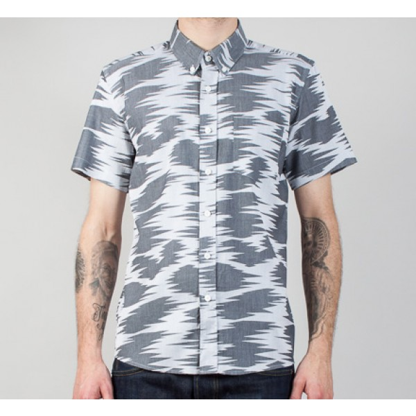 Saturday's Surf NYC Esquina Safari Short Sleeve Shirt (Black/White)