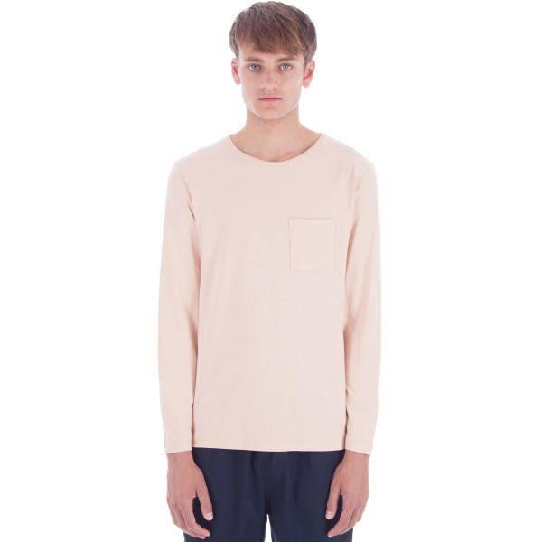 Saturday's Surf NYC James Solid Long Sleeve T-Shirt (Clay)