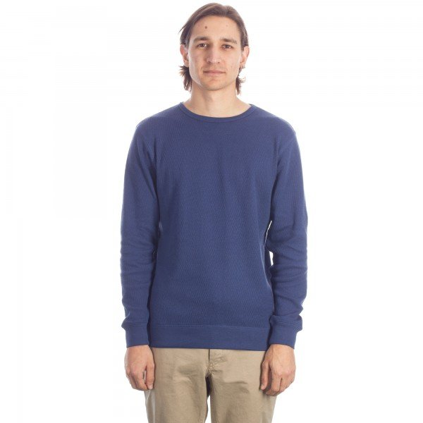 Saturday's Surf NYC Kasu Thermal Long Sleeve T-Shirt (Navy)