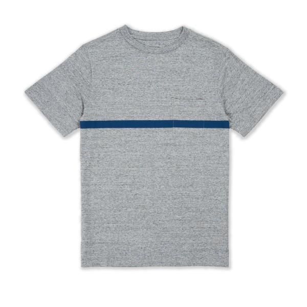 Saturday's Surf NYC Randall Chest Stripe T-Shirt (Ash Heather)