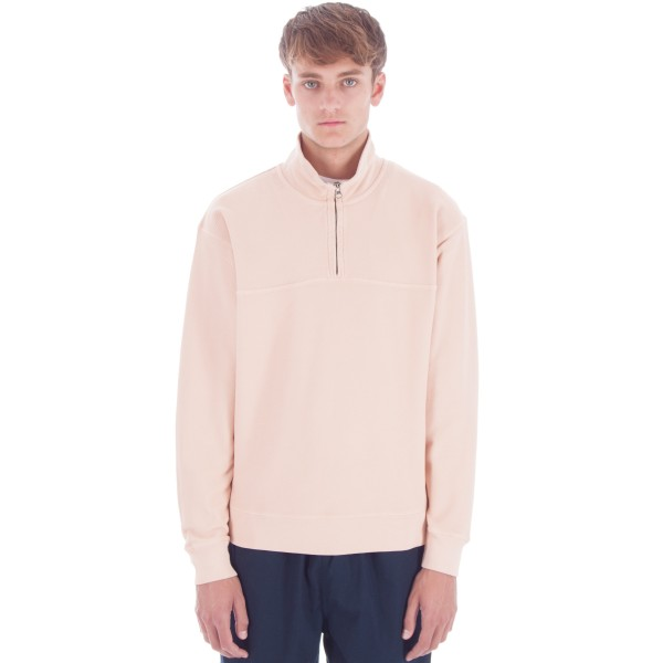 Saturday's Surf NYC Sam Quarter Zip Pullover Sweatshirt (Clay Dye)