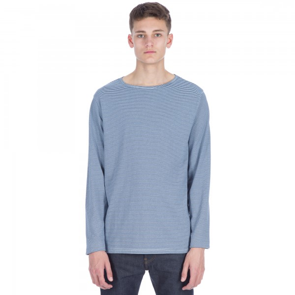 Saturday's Surf NYC Serg Feeder Long Sleeve T-Shirt (Washed Indigo)