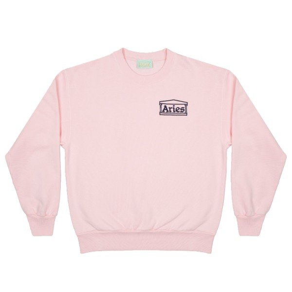Aries Logo Crew Neck Sweatshirt (Pink)