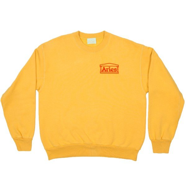 Aries Logo Crew Neck Sweatshirt (Yellow)