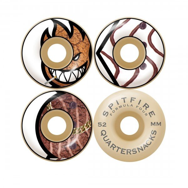 Spitfire x Quartersnacks Formula Four 99 DU Quarter Classics Skateboard Wheels 52mm