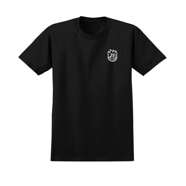 Spitfire x Quartersnacks Quarter Classic T-Shirt (Black)