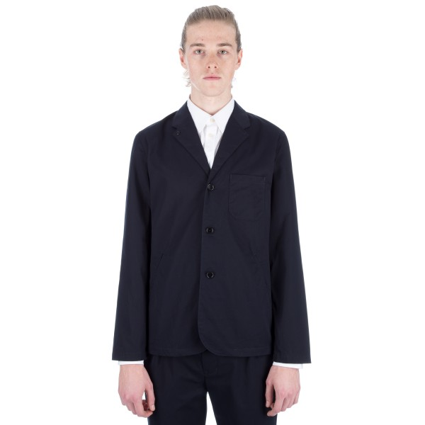 Still By Hand Cotton 3 Button Jacket (Navy)