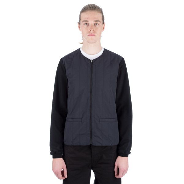 Still By Hand Cotton 3M Thinsulate Round Neck Blouson (Black)