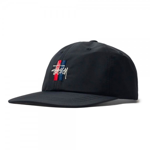 Stussy Bars Logo Low Pro Cap (Black)