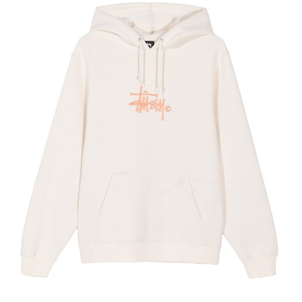 Stussy Basic Copyright Applique Pullover Hooded Sweatshirt (Vanilla)