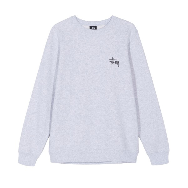 Stussy Basic Crew Neck Sweatshirt (Ash Heather)
