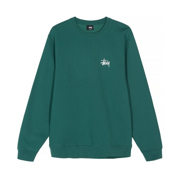 Stussy Basic Crew Neck Sweatshirt (Green)