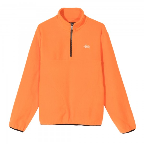 Stussy Basic Polar Fleece Mock Neck (Orange)