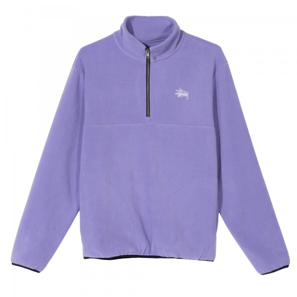 Stussy Basic Polar Fleece Mock Neck (Violet)