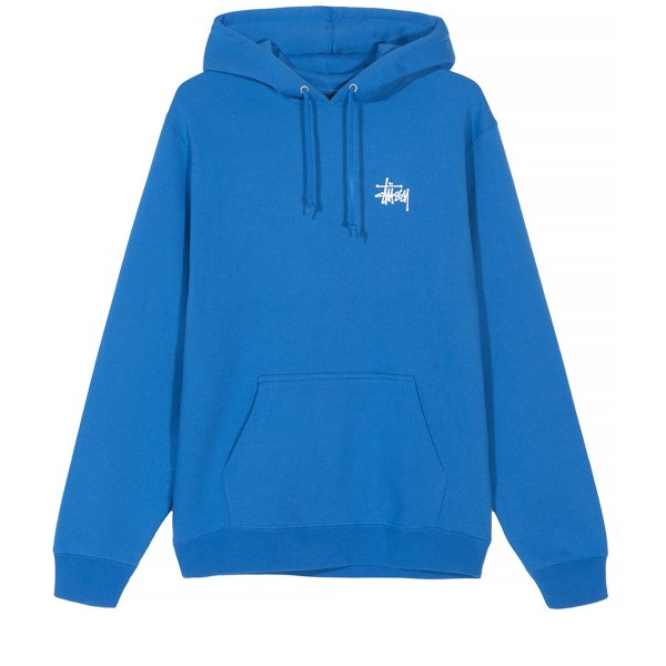 Stussy Basic Pullover Hooded Sweatshirt (Blue)