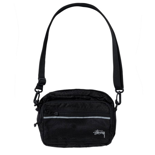 Stussy Diamond Ripstop Shoulder Bag (Black)