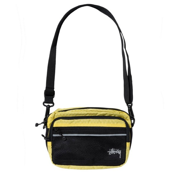 Stussy Diamond Ripstop Shoulder Bag (Lime)