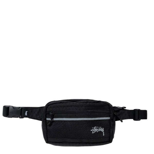 Stussy Diamond Ripstop Waist Bag (Black)