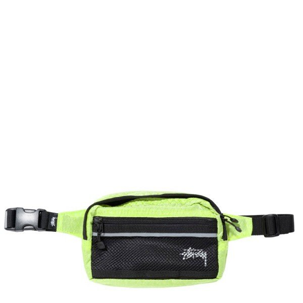 Stussy Diamond Ripstop Waist Bag (Lime)