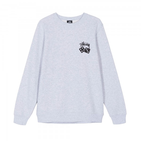 Stussy Dice Crew Neck Sweatshirt (Ash Heather)