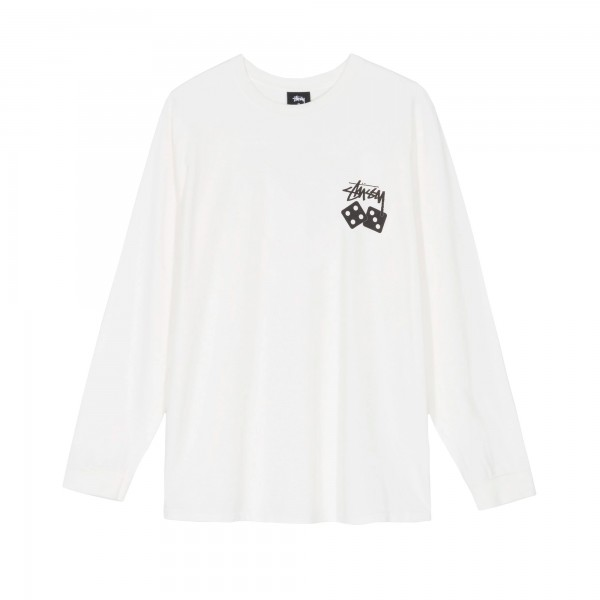 Stussy Dice Pigment Dyed Long Sleeve T-Shirt (Natural)