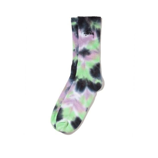 Stussy Leary Marl Socks (Black/Lavender)