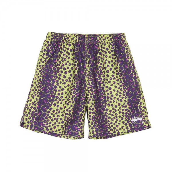 Stussy Leopard Water Short (Lime)