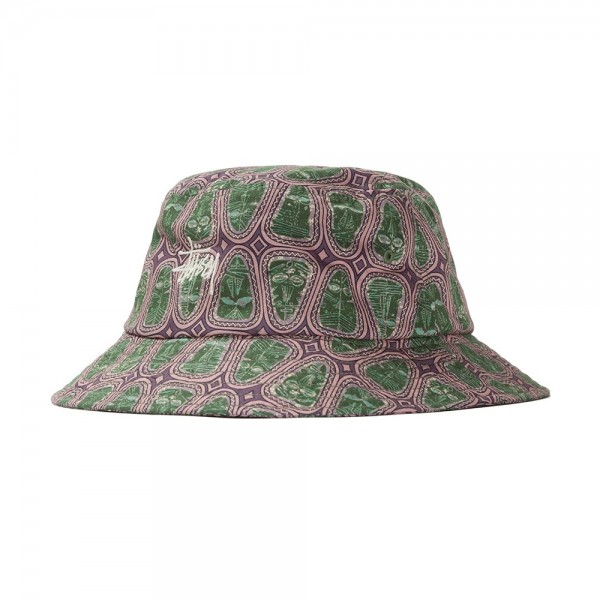 Stussy Mask Pattern Bucket Hat (Pink)