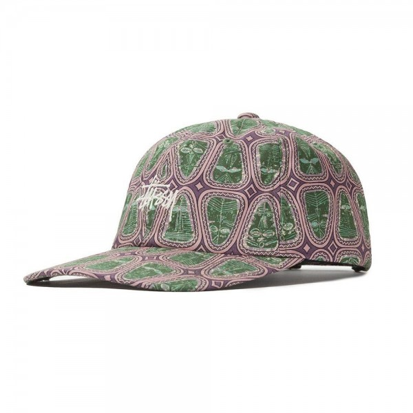 Stussy Mask Pattern Low Pro Cap (Pink)