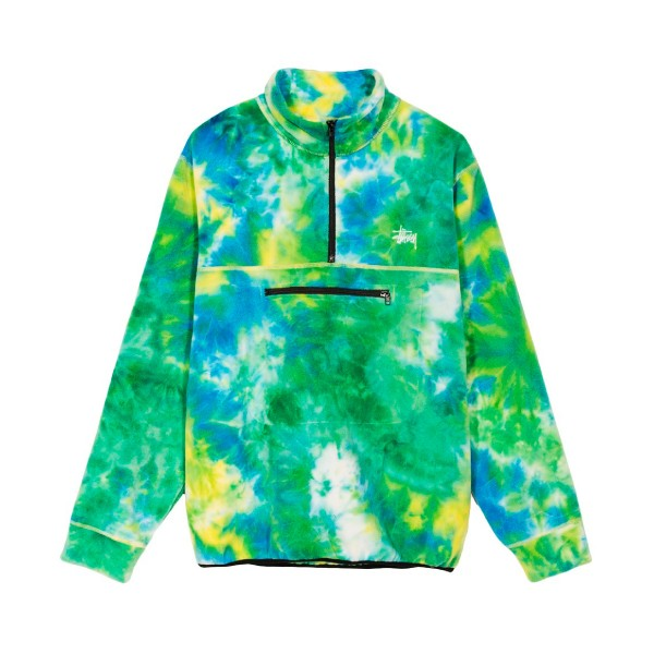 Stussy Polar Mock Neck Fleece (Tie Dye)