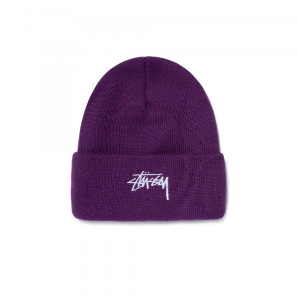 Stussy Stock Cuff Beanie (Purple)