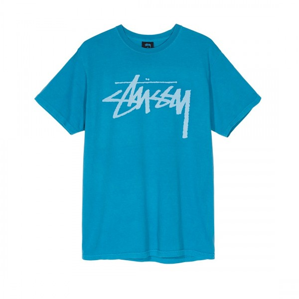 Stussy Stock Pigment Dyed T-Shirt (Blue)