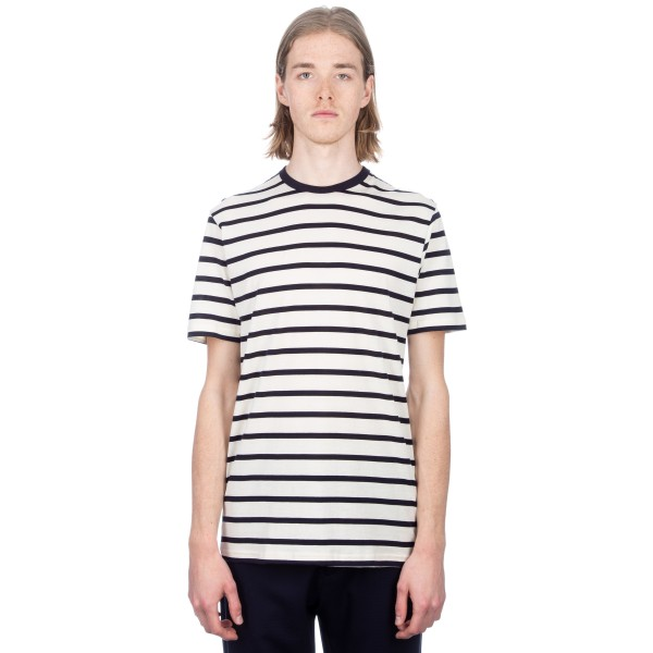 Sunspel Classic Cotton Breton Stripe T-Shirt (Ecru/Navy)