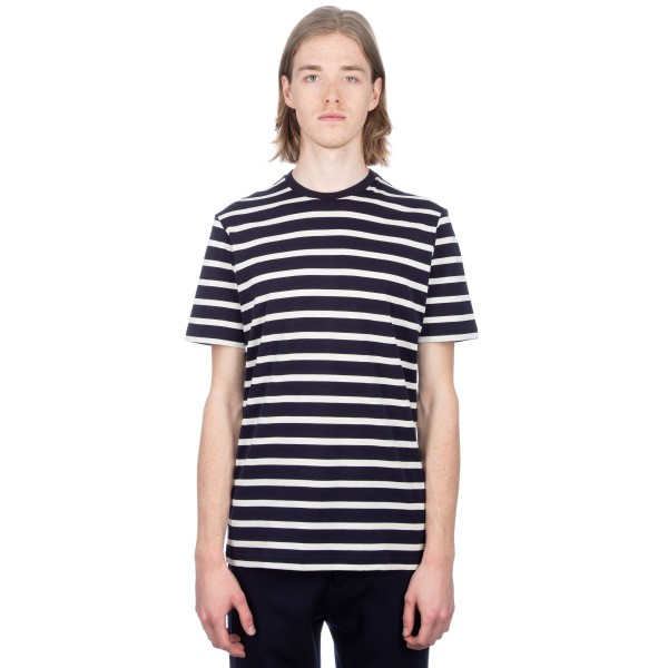 Sunspel Classic Cotton Breton Stripe T-Shirt (Navy/Ecru)
