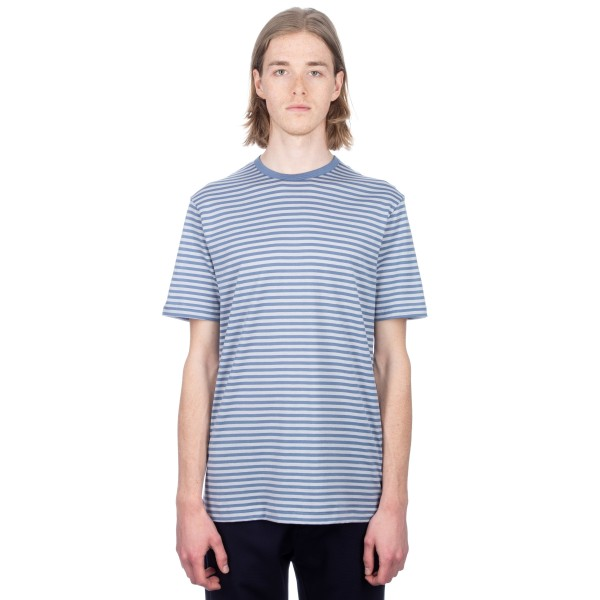 Sunspel Classic Cotton English Stripe T-Shirt (Air Force/Ice)