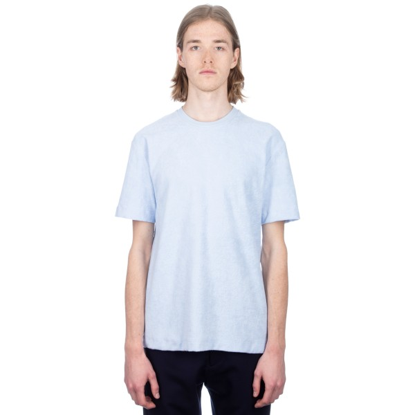 Sunspel Cotton Towelling Relaxed Fit T-Shirt (Sky)