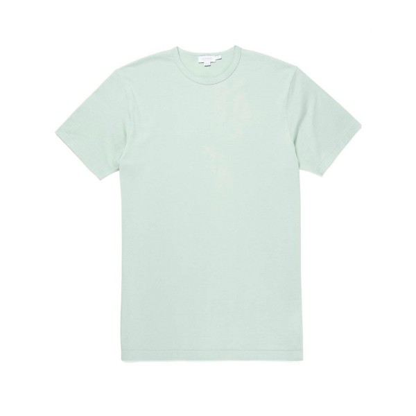 Sunspel Crew Neck Classic T-Shirt (Aqua Leaf)