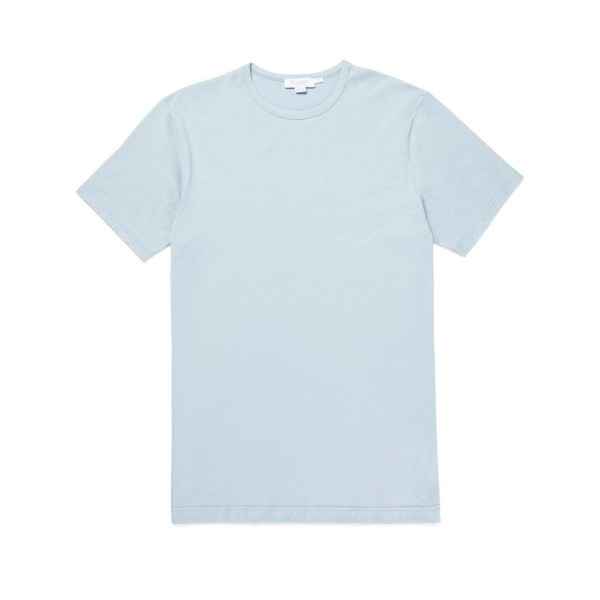 Sunspel Crew Neck Classic T-Shirt (Light Indigo)