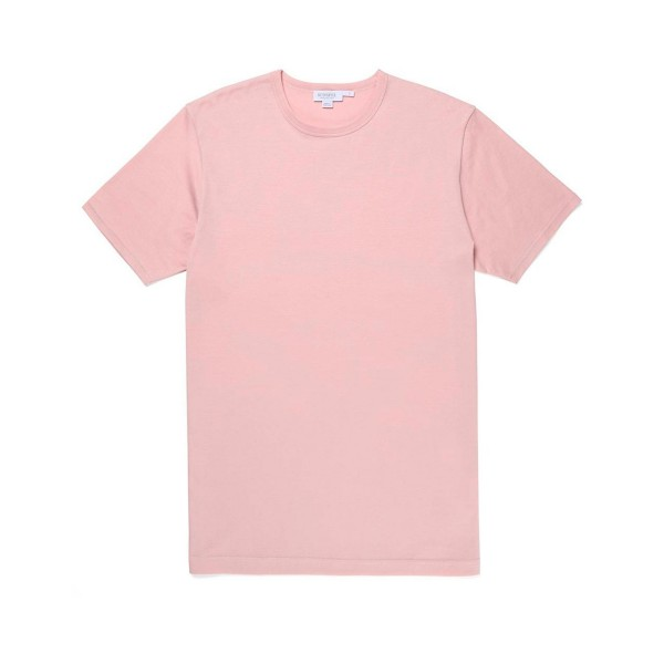 Sunspel Crew Neck Classic T-Shirt (Pale Pink)