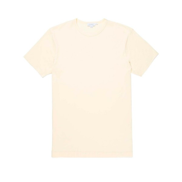 Sunspel Crew Neck Classic T-Shirt (Weld Yellow)