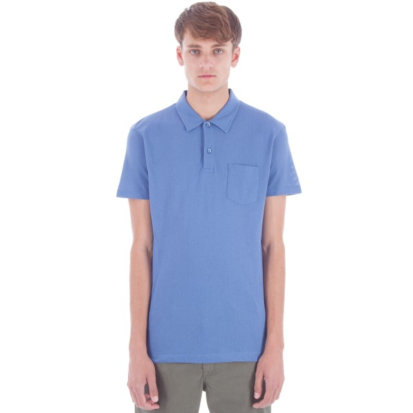 Sunspel Riviera Polo Shirt (Denim Blue)